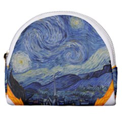 The Starry Night Starry Night Over The Rhne Pain Horseshoe Style Canvas Pouch