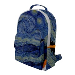 The Starry Night Starry Night Over The Rhne Pain Flap Pocket Backpack (large)