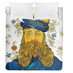 Vincent Van Gogh Cartoon Beard Illustration Bearde Duvet Cover Double Side (queen Size)
