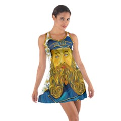 Vincent Van Gogh Cartoon Beard Illustration Bearde Cotton Racerback Dress