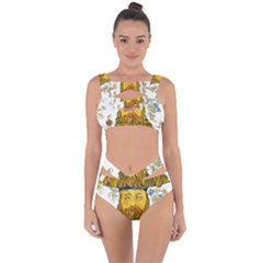 Vincent Van Gogh Cartoon Beard Illustration Bearde Bandaged Up Bikini Set