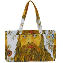 Vincent Van Gogh Cartoon Beard Illustration Bearde Canvas Work Bag