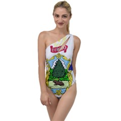 Coat Of Arms Of Maine To One Side Swimsuit by abbeyz71