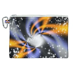 Supernova Space Star Canvas Cosmetic Bag (xl)