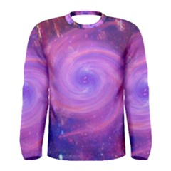 Spiral Strudel Galaxy Eddy Fractal Men s Long Sleeve Tee by Pakrebo