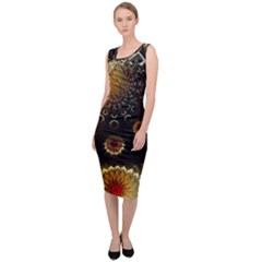 Star Mystical Fantasy Sleeveless Pencil Dress
