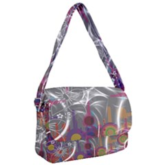Flora Entwine Fractals Flowers Courier Bag