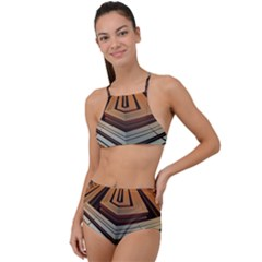 Stadium Fractal The Future High Waist Tankini Set