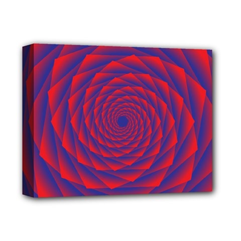 Fractal Rose Blue Red Deluxe Canvas 14  X 11  (stretched) by Pakrebo
