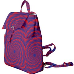 Fractal Rose Blue Red Buckle Everyday Backpack
