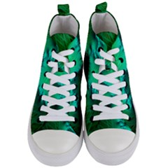 Fractal Maths Design Backdrop Women s Mid Top Canvas Sneakers