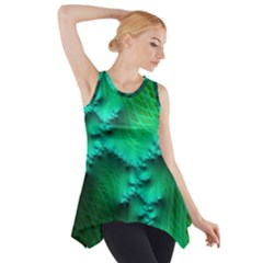 Fractal Maths Design Backdrop Side Drop Tank Tunic