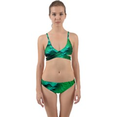 Fractal Maths Design Backdrop Wrap Around Bikini Set