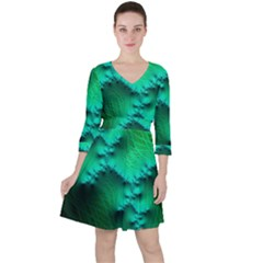 Fractal Maths Design Backdrop Ruffle Dress