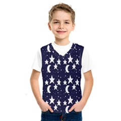 Starry Night Cartoon Print Pattern Kids  Sportswear by dflcprintsclothing