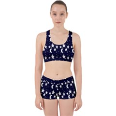Starry Night Cartoon Print Pattern Work It Out Gym Set by dflcprintsclothing