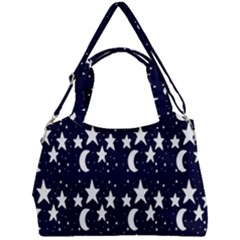 Starry Night Cartoon Print Pattern Double Compartment Shoulder Bag by dflcprintsclothing