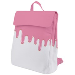 Ice Cream Pink Melting Background Flap Top Backpack by genx