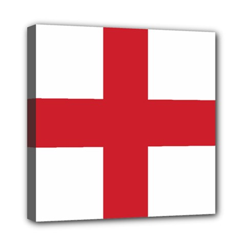 Flag Of England Mini Canvas 8  X 8  (stretched) by abbeyz71
