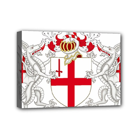 Coat Of Arms Of The City Of London Mini Canvas 7  X 5  (stretched) by abbeyz71