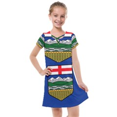 Flag Of Alberta Kids  Cross Web Dress by abbeyz71