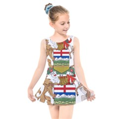 Coat Of Arms Of Alberta Kids  Skater Dress Swimsuit by abbeyz71