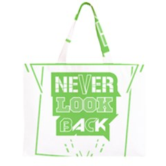 Never Look Back Zipper Large Tote Bag by Melcu