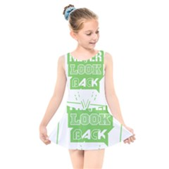 Never Look Back Kids  Skater Dress Swimsuit by Melcu