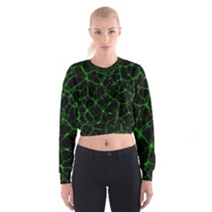 System Web Network Connection Cropped Sweatshirt