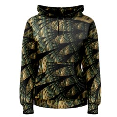 Pattern Abstract Fractals Women s Pullover Hoodie by Pakrebo