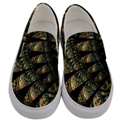 Pattern Abstract Fractals Men s Canvas Slip Ons