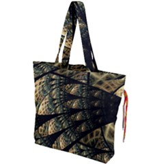 Pattern Abstract Fractals Drawstring Tote Bag