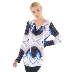 Patterns Fractal Background Digital Tie Up Tee