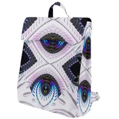 Patterns Fractal Background Digital Flap Top Backpack by Pakrebo