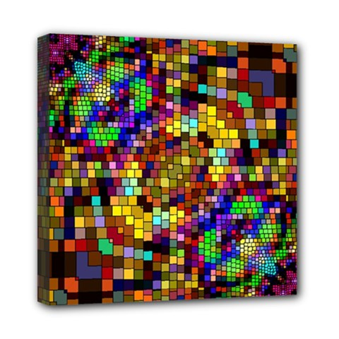 Color Mosaic Background Wall Mini Canvas 8  X 8  (stretched) by Pakrebo