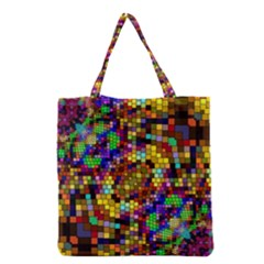 Color Mosaic Background Wall Grocery Tote Bag by Pakrebo