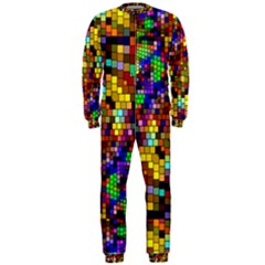 Color Mosaic Background Wall Onepiece Jumpsuit (men)