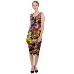 Color Mosaic Background Wall Sleeveless Pencil Dress by Pakrebo