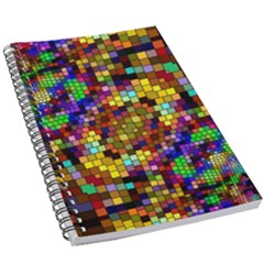 Color Mosaic Background Wall 5 5  X 8 5  Notebook by Pakrebo