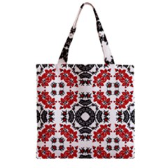Ornament Seamless Pattern Element Zipper Grocery Tote Bag