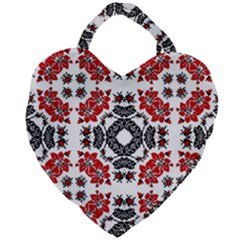 Ornament Seamless Pattern Element Giant Heart Shaped Tote