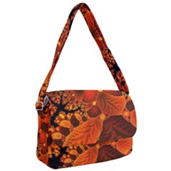 Leaf Autumn Nature Background Courier Bag by Pakrebo