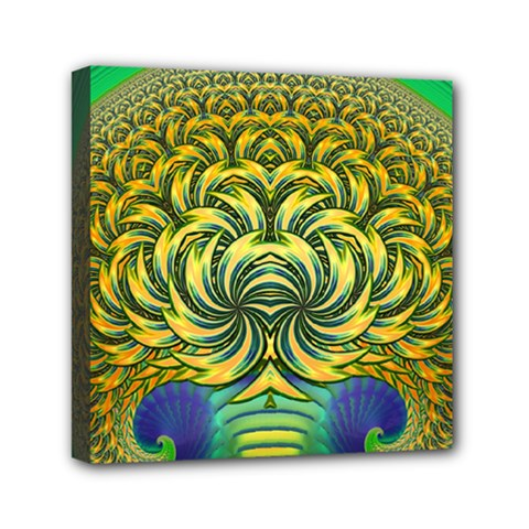 Fractal Tree Abstract Fractal Art Mini Canvas 6  X 6  (stretched)