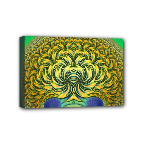 Fractal Tree Abstract Fractal Art Mini Canvas 6  X 4  (stretched)