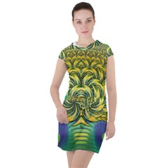 Fractal Tree Abstract Fractal Art Drawstring Hooded Dress