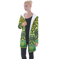 Fractal Tree Abstract Fractal Art Longline Hooded Cardigan by Pakrebo