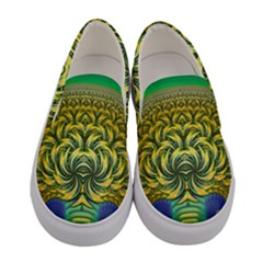 Fractal Tree Abstract Fractal Art Women s Canvas Slip Ons