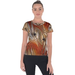 Pattern Background Swinging Design Short Sleeve Sports Top