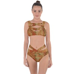 Mottle Color Movement Colorful Bandaged Up Bikini Set  by Pakrebo
