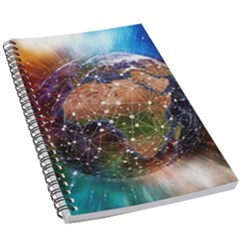 Network Earth Block Chain Globe 5 5  X 8 5  Notebook